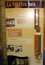 Panneau de l'exposition.